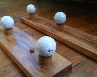 Golf Ball Coat Rack set of two 3 hook racks