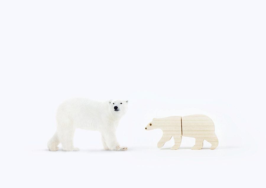 Clé USB ours polaire