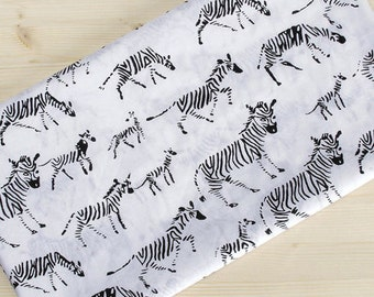 """Semi-sheer Cotton Fabric - Black Zebra - Lightweight and Thin - 62"""" Wide - By the Yard 75406"""