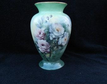 Vase: Hand decorated porcelain vase