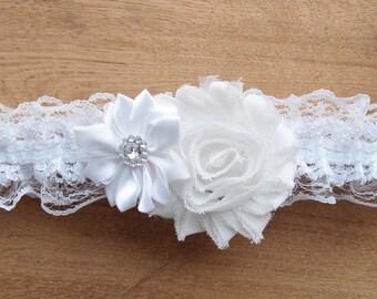 White wedding garter, white garter, white bridal garters, toss garter, keepsake garter, elegant garter, white bridal garter, white dress