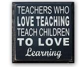 Teacher Art- distressed home decor, wall art, nursery, teacher, school art, painted wood sign, classroom art