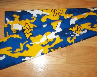 Draft Stopper For Door West Virginia Mountaineers WVU Blue Yellow White FREE Shipping On Purchase of 2!