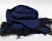 Pure Linen Scarf Lightweight  SHIPPING WORLDWIDE Valentine's day gift  Scarf Unisex Scarf Blue Pure linen Jeans Summer scarf SR14