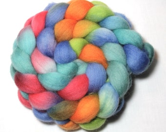 Handpainted Roving - Cruise - Falkland wool, 4 ounces.