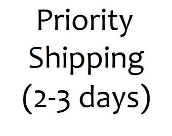 ADD ON ONLY!! For Priority (2 to 3 day) shipping!