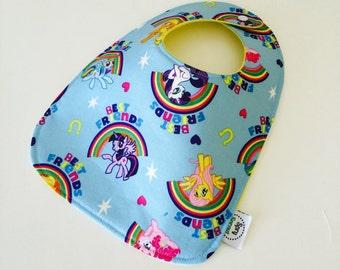 My Little Pony Rainbow ZAP! Snap Baby Bib