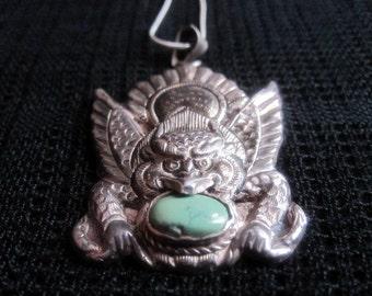 Nepalese Silver Chhepu Pendant Charm.