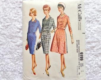 Vintage McCalls Suit Pattern 6199 Skirt Jacket 1961 Size 14 Uncut
