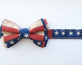 Patriotic Bow Ties, Independence Day Bow Ties, Military Bow Ties, 4th of July Bow Ties, Newborn Bow ties, Toddler Bow Ties, Child Bow Tie