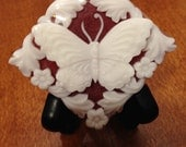 butterfly handmade soap in red cranberry fig goatmilk and glycerin