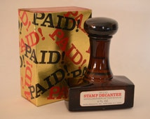 Vintage Rubber Stamp Decanter-Men's Avon Windjammer After Shave Bottle-Circa 1970s-Decorative Office Accessory-Retro Father's Day Present