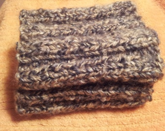 Boot Cuffs Knitted Leg Warmers New Brown