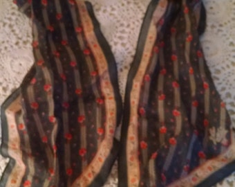 Katja  for XIIX Karat, Long Striped and Floral  Fashion Scarf  ECS
