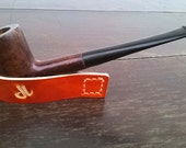 FREE SHIPPING Leather Pipe Stand - Hand Stitched - Pipe NOT included