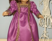 18 Inch Americian Girl Doll outift long historic dress with mop top hat by Projectfunway on Etsy