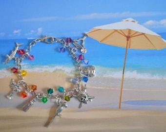 margaritaville jimmy buffett parrothead tropical margarita rainbow swarovski crystal bracelet