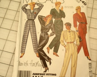 McCall's 2140 Vintage Pattern 1985 Jumpsuit