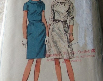Simplicity 6799 size 14 vintage dress carefully cut