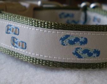 Summer Sandals Dog Collar (small)