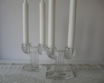 Vintage glass candleholders, saguaro cactus, retro cool and good design