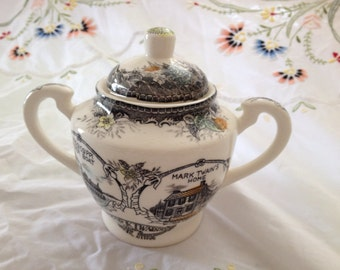 Transferware Sugar Bowl