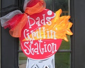 Fathers Day Gift, Grilling Decoration, Summer Wreath, Summer Door Hanger