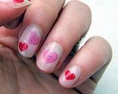 Cute Valentines Heart Nail Transfers