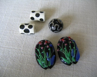 5) Beads for Jewelry Making Ceramic and Lampwork