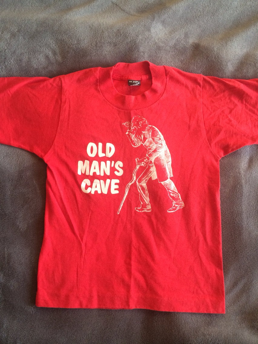 Man Cave Gifts Nz : Vintage old man s cave tour t shirt