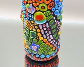 Handmade Mosaic Vase, Bright Vibrant Colors, Home Decor', Indoor Home Accent