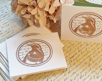 Vintage Bird - Mini Note Cards - Thank You Cards - Set of 12