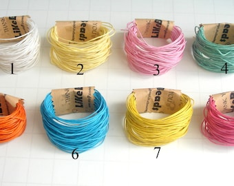 Cotton Cord for Jewelry, Woven Waxed  Cotton cord for Necklace,Do it yourself jewelry