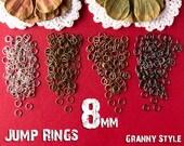 NEW 8mm Jump Rings Jump Rings - 18 gauge — 100 Pack
