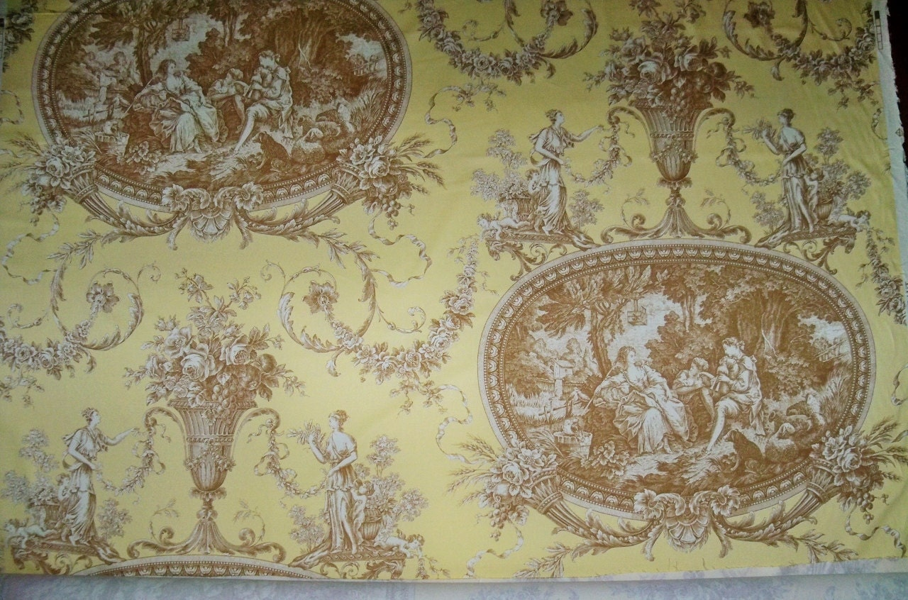 Shabby romantic fragonard french toile fabric 10 yards for French toile fabric