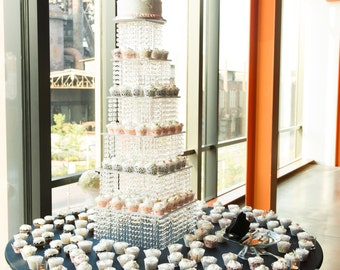 Wedding Cake Stand Bling cupcake build a tower