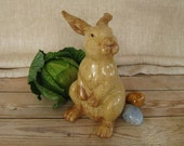 Vintage Easter Bunny, Easter Bunny Statue, Easter Bunny Figurine, Vintage Easter Rabbit, Large Rabbit Statue, Peter Cottontail Figurine