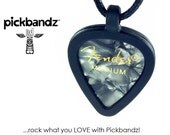 Guitar Pick Necklace by Pickbandz - Personalize by Popping in Your Favorite Pick!  GRAY Fender Pick included!