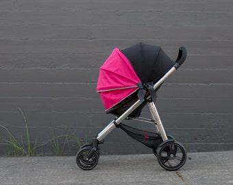 Stroller Canopy, Stroller Cover, Stroller Shade, Stroller Sun Shade SimpleShade - Raspberry