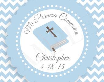 Personalized Pink Damask Baby Girl Baptism / Christening Favor Tags -Printable DIY