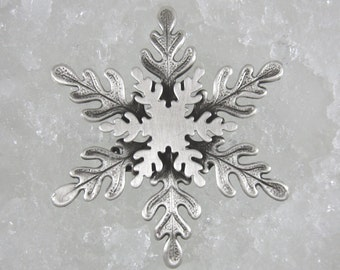 Snowflake Brooch- Snowflake Jewelry- Snowflake Pin- Winter Brooch- Seasonal Jewelry-Christmas Gift