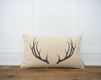 Antler Pillow Cover