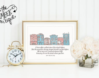 INSTANT DOWNLOAD, My Fair Lady Lyrics, On the Street Where You Live, Printable, No. 289
