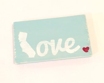 California hand painted LOVE mini sign