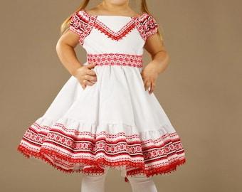 Ukrainian Children's Dress embroidery. Ukrainian national Dress girls. Vyshyvanka dress. Ukrainian traditional clothes. Ukraine baby dress