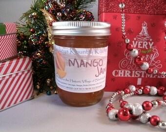 Homemade Mango Jam, handmade jam jelly fruit preserves, fruit spreads, food gift, holiday gift, gourmet jam, homemade jam, fruit jelly