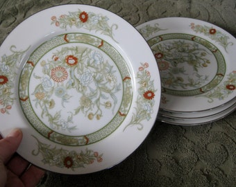 Mikasa Kabuki  Dinner plates  Platinum Trim Very good Set of 4 included. Two sets available