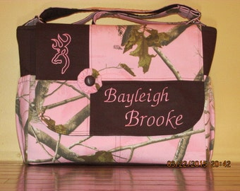 Handmade Realtree Camo Diaper Bag & Changing Pad  Free Embroidery Included!