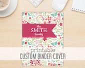 Printable Binder Cover - Garden Hues
