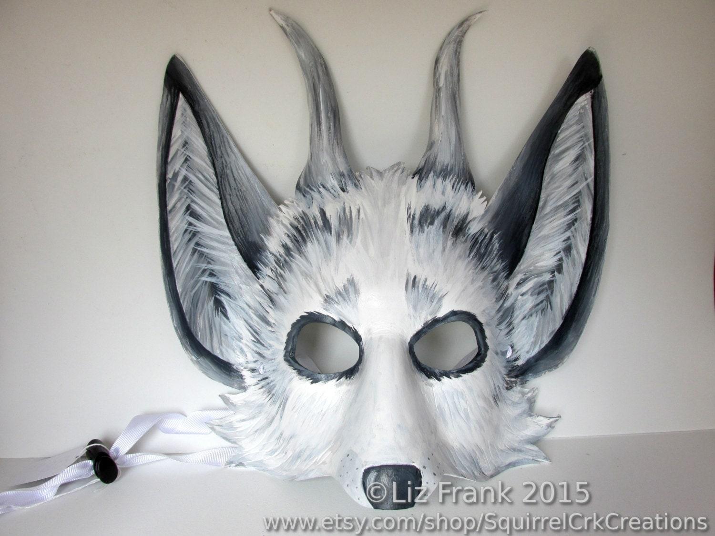 spirit of the forest leather marble fox mask animal mask. Black Bedroom Furniture Sets. Home Design Ideas